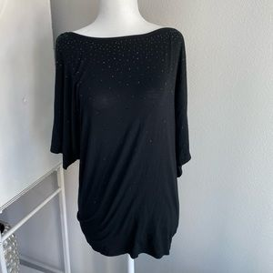 Michael Stars studded black dolman sleeve shirt
